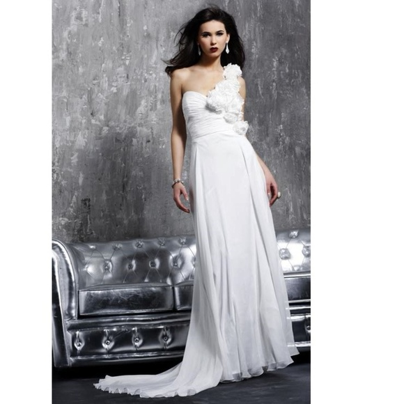 43 Off Jovani Dresses Skirts One Shoulder Rosette Wedding - Rosette Wedding Dress